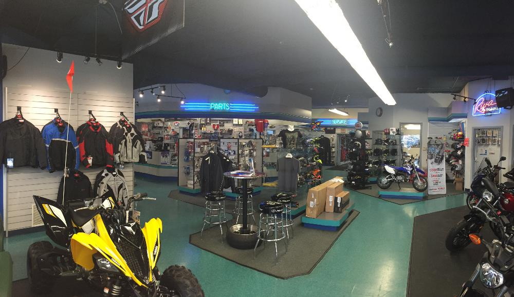 Sales floor at Cycle Sport Yamaha located in Hobart, Indiana